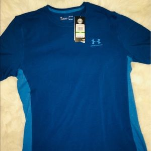 Under Armour Blue men's short sleeve shirt size LG